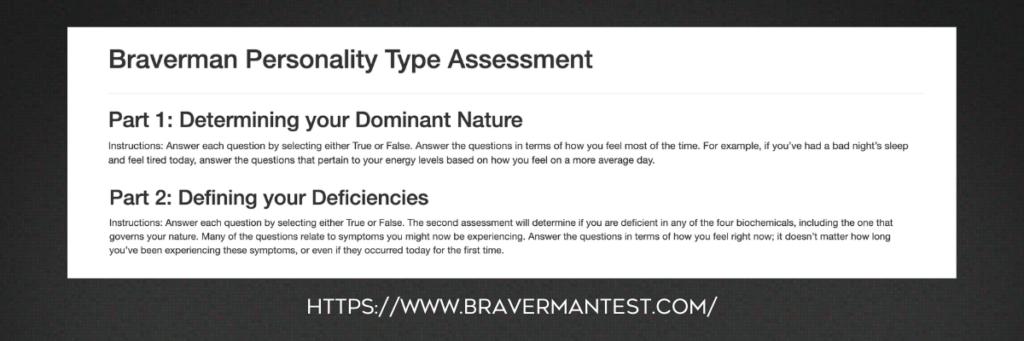 Braverman Personality Type Assessment